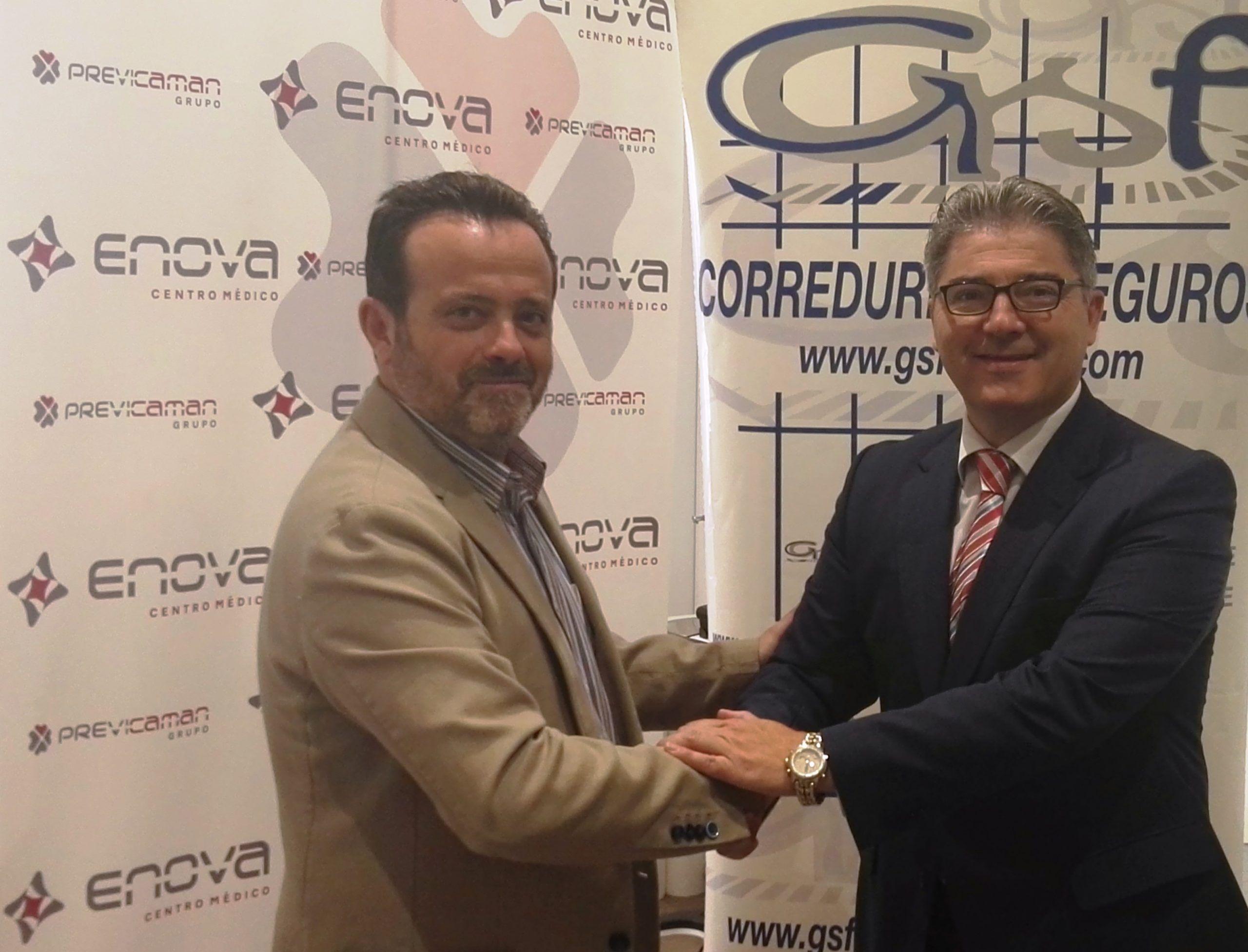 La clínica toledana Enova y GSF Broker firman un convenio de colaboración